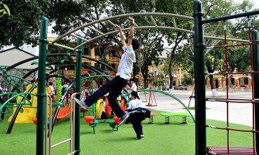 Tổ hợp vận động đa năng dành cho sân chơi trường học